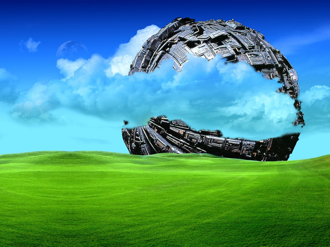 Scenery wallpaper fond d 39 cran paysage science fiction for Paysage wallpaper