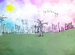 color city wallpaper provenant de Abstraits