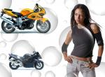 Filles et motos wallpaper de rutup provenant de Filles et motos