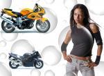 Filles et motos N°9552 wallpaper provenant de Filles et motos